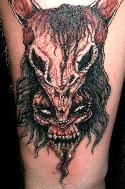 Evil goat tattoo - photo#26