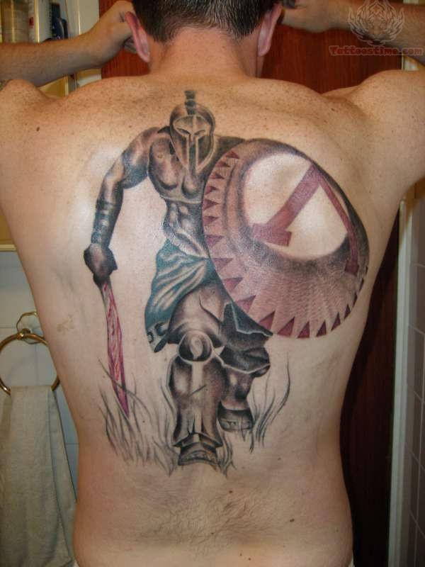 Spartan Warrior King Tattoo