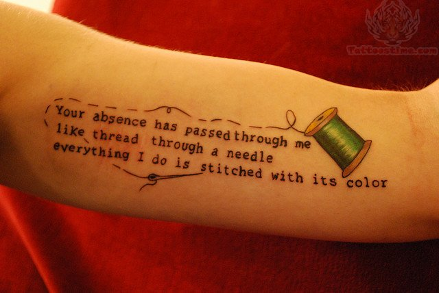 Memory Tattoo with Thread