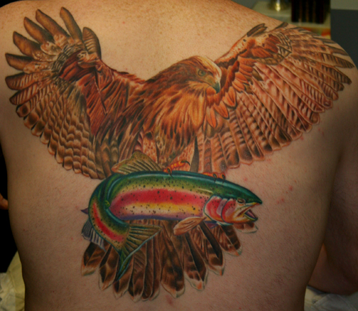 Flying fish tattoo