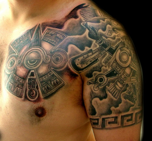 Aztec And Mexican Tattoos | Hispanic Tribal, Chicano Gang