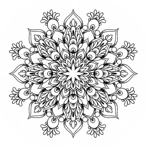 Coloring Pages Of Mandala Designs Flowers